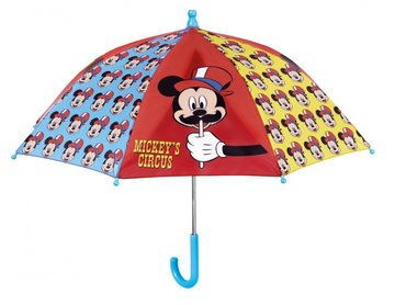 paraplu Mickey Mouse 56 x 66 cm rood/blauw