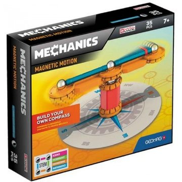 Mechanics Magnetic Motion Compas 35-delig oranje